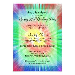 Tie Dye Party Invitations Announcements Zazzlecouk