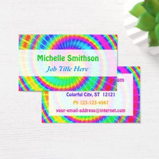 Retro Tie Dye Hippie Psychedelic Business Card