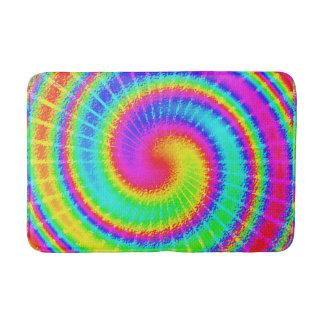 Retro Tie Dye Hippie Psychedelic Colorful Swirl Bath Mat