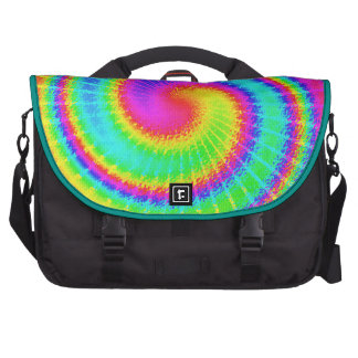 Retro Tie Dye Hippie Psychedelic Laptop Bag