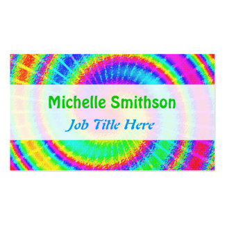 Retro Tie Dye Hippie Psychedelic Pack Of Standard Business Cards