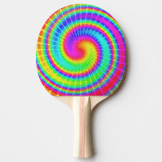 Retro Tie Dye Hippie Psychedelic Ping Pong Paddle