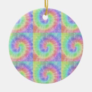 Retro Tie Dye Pastel Pattern Swirl Christmas Ornament