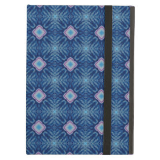 Retro Tie-Dye Style Kaleidoscope Pattern in Blues Cover For iPad Air