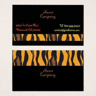 Retro Tiger Skin pattern profile cards