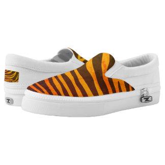 Retro Tiger Slip On Shoes