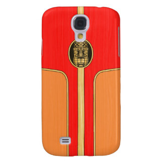 Retro Tiki Surfboard Galaxy S4 Case
