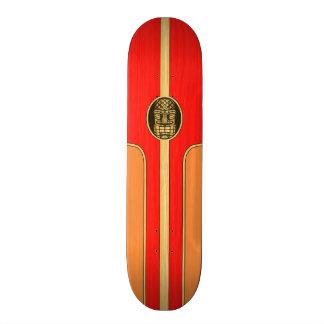 Retro Tiki Surfboard Skate Board