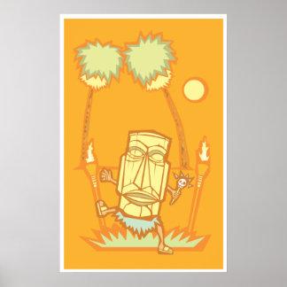 Retro Tiki Witchdoctor Poster