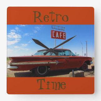 Retro Time Wall Clock by RoseWrites
