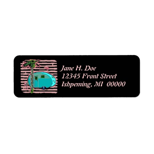 Retro Tin Can Travel Trailer Camper Address Labels