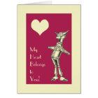 Retro Tin Man Love Card