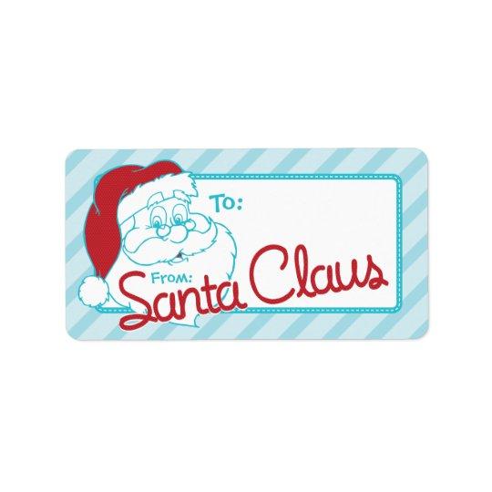 Retro To From Santa Christmas Tag Address Label