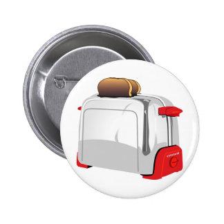 Retro Toaster 6 Cm Round Badge