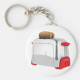 Retro Toaster Basic Round Button Key Ring