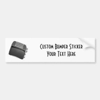 Retro Toaster - Black & White Negative Bumper Sticker
