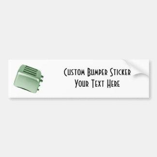 Retro Toaster - Green Bumper Sticker