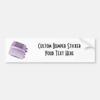 Retro Toaster - Purple Bumper Sticker