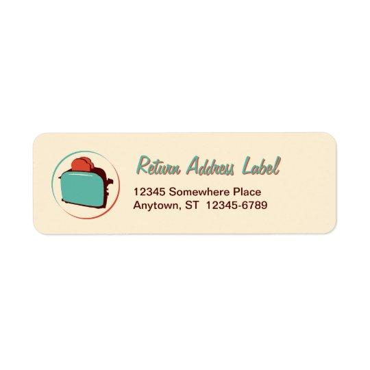Retro Toaster Return Address Labels
