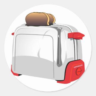 Retro Toaster Round Sticker