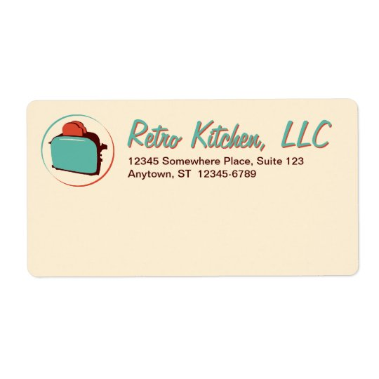 Retro Toaster Shipping Labels