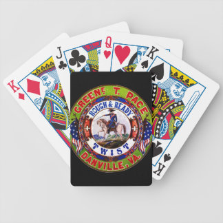 Retro Tobacco Label 1855 Bicycle Playing Cards