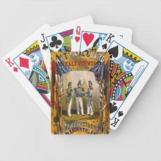 Retro Tobacco Label 1857 b Poker Deck