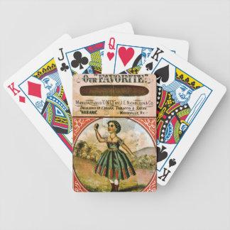 Retro Tobacco Label 1868 c Poker Deck