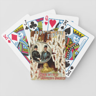Retro Tobacco Label 1890 Bicycle Playing Cards