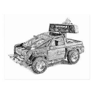 Retro toy 4x4/Assault Vehicle Postcard