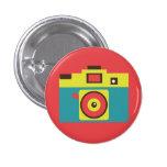 Retro Toy Camera (Blue) Flair Button