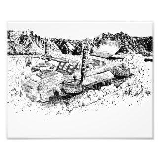 Retro toy GTO/Armoured Tank Photo Print