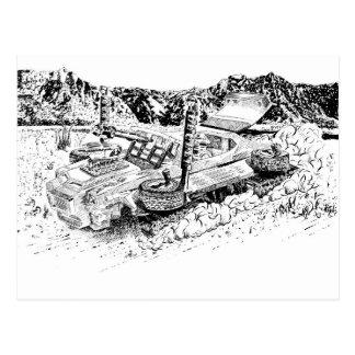 Retro toy GTO/Armoured Tank Postcard