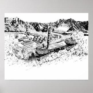 Retro toy GTO/Armoured Tank Poster