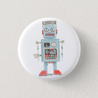 Retro Toy Robot Button