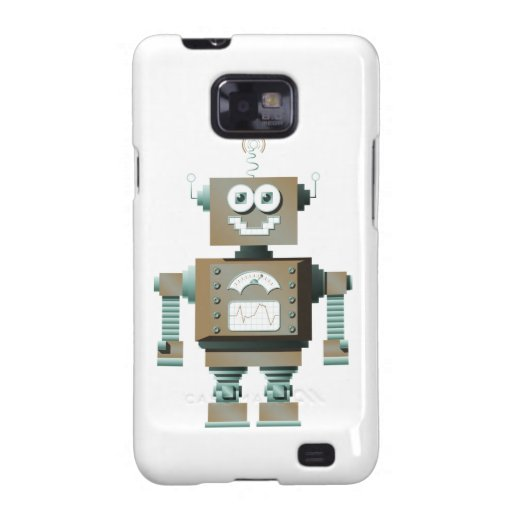Retro Toy Robot Samsung Galaxy Case (lt) Galaxy S2 Cases