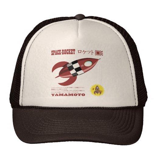 Retro Toy Rocket Advertisement Hats
