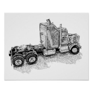 Retro toy Tractor Rig/Mobile Defence Unit Poster