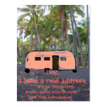 Retro Trailer Hawaiian Palm Tree New Home Postcard