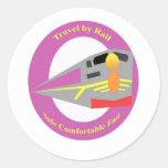 Retro Train Travel Stickers