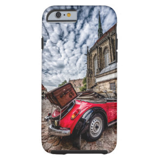 Retro traveling tough iPhone 6 case
