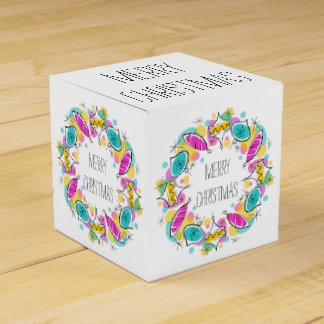 Retro Tree Baubles Circle Christmas classic Favour Box