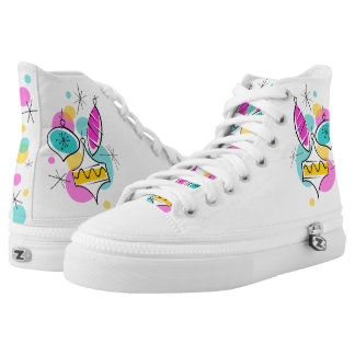 Retro Tree Baubles Group high top shoes