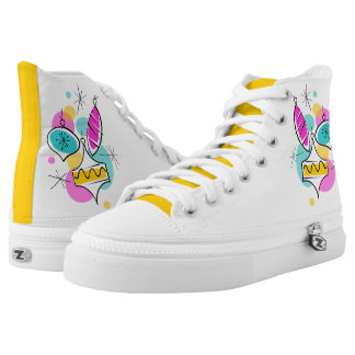 Retro Tree Baubles Group high top yellow