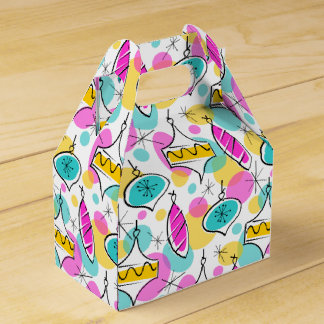 Retro Tree Baubles Multi favor box