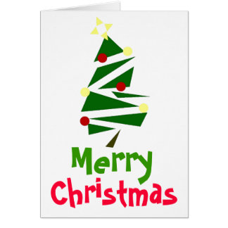 RETRO TREE CHRISTMAS GREETING CARD