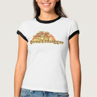Retro Tree Hugger Ladies Ringer T-Shirt