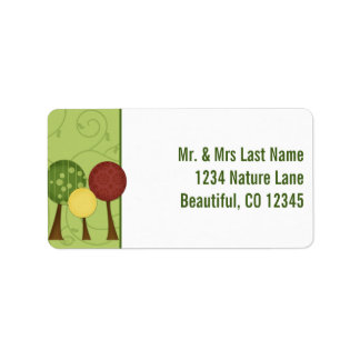 Retro Trees Address Labels
