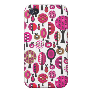 Retro trees and apples pattern iphone case case for iPhone 4