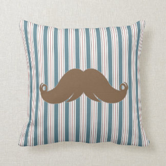 Retro Trendy Mustache Throw Pillows
